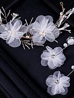 Недорогие -Жен. Свадебные комплекты ювелирных изделий Цветы Мода Жемчуг Серьги Бижутерия Белый Назначение Свадьба Для вечеринок 1 комплект