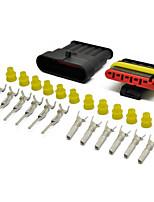 Недорогие -5 комплект комплекта водонепроницаемые автомобильные водонепроницаемые электрические разъемы