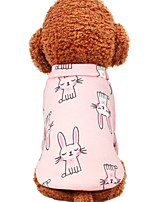 Недорогие -Собаки Инвентарь Одежда для собак Геометрический принт Белый Желтый Синий Полиэстер Костюм Назначение Зима Праздник Хэллоуин