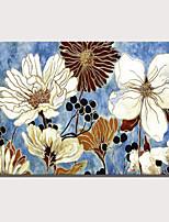 Недорогие -С картинкой Роликовые холсты Отпечатки на холсте - Абстракция Цветочные мотивы / ботанический Modern Репродукции