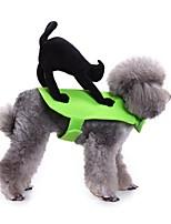 Недорогие -Собаки Коты Животные Костюмы Комбинезоны Одежда для собак Животное Зеленый Полиэстер Костюм Назначение Зима Хэллоуин
