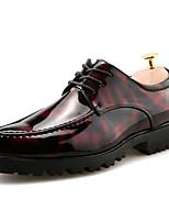 Недорогие -Муж. Официальная обувь Кожа Весна / Наступила зима На каждый день / Английский Туфли на шнуровке Для прогулок Дышащий Черный / Черный / Красный / Черный / синий / Для вечеринки / ужина