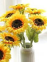 Недорогие -Искусственные Цветы 1 Филиал Классический европейский Пастораль Стиль Подсолнухи Вечные цветы Букеты на стол
