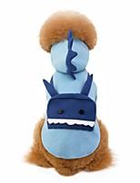Недорогие -Собаки Костюмы Одежда для собак Однотонный Лиловый Синий Флис Костюм Назначение Корги Шиба-Ину Пудель Осень Зима Универсальные Для вечеринки Косплей