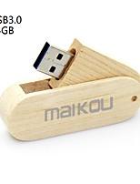 Недорогие -maikou деревянная флешка usb3.0 вращающаяся флешка usb 64гб