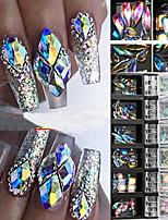 Недорогие -3d ab алмазов драгоценных камней блеск для ногтей горный хрусталь хрустальное стекло декор для ногтей 12 коробок