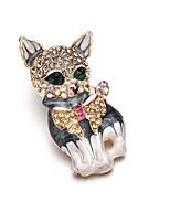 Недорогие -Жен. Броши Ретро Кошка Мечта Художественный Мода Брошь Бижутерия Золотой Назначение Для вечеринок фестиваль