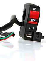 Недорогие -универсальный мотоцикл руль зарядное устройство переключатель с USB мотоцикл телефон зарядное устройство