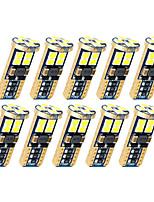 Недорогие -10 шт. T10 автомобильные лампочки 5 Вт smd 3030 12 светодиодные фонари номерного знака / рабочие фары / задние фонари для универсальных все годы