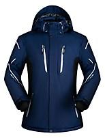 Недорогие -Муж. Лыжная куртка Дожденепроницаемый Теплый Лыжи Катание на лыжах Сноубординг Зимние виды спорта Терилен Верхняя часть Одежда для катания на лыжах