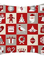 Недорогие -1 шт. Полиэфирный наволочка, праздничный рождественский рождественский подушка
