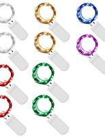 Недорогие -2м гирлянда 20 светодиодов теплый белый / многоцветная вечеринка / декоративные / свадьба на батарейках 10шт