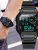 Недорогие -Муж. электронные часы Цифровой силиконовый Черный / Синий / Красный 30 m Защита от влаги Секундомер Новый дизайн Цифровой На каждый день Новое поступление - Черный Черно-белый Зеленый / Один год