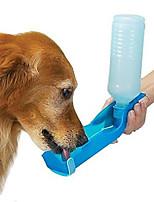 Недорогие -Грызуны Собаки Кролики Миски и бутылки с водой 0.5 L Полипропиленовая пряжа Компактность Складной На открытом воздухе Однотонный Цвет отправляется в случайном порядке Чаши и откорма