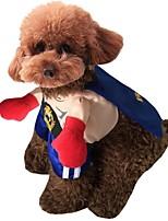 Недорогие -Собаки Костюмы Одежда для собак Пэчворк Синий Полиэстер Костюм Назначение Зима Хэллоуин