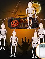 Недорогие -10led хэллоуин светлая строка призрак фестиваль таро голова светлая строка крытый украшения комнаты