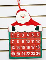 Недорогие -Праздничные украшения Рождественский декор Рождество / Рождественские украшения Календарь / Для вечеринок Красный 1шт