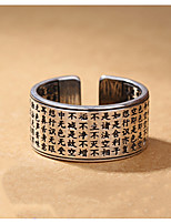 Недорогие -Винтаж триколор посеребренные вводные кольца тибетские библия мужские кольца мода 925 ювелирные изделия черный шнец тайский серебряное кольцо 23 мм