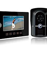 Недорогие -проводной 7-дюймовый громкой связи 800 * 480 пикселей один на один видео домофон дверной звонок домофон 1/4 дюйма цветной датчик cmos наружный блок настенный