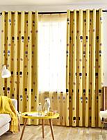 Недорогие -двухпанельная детская комната милый мультфильм стиль плотные шторы