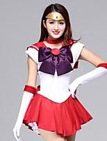 Недорогие -Вдохновлен Sailor Moon Школьницы Аниме Косплэй костюмы Японский Косплей Костюмы / Платья Платье / Перчатки / лук Назначение Жен. / Головные уборы / Neckwear