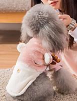 Недорогие -Собаки Коты Животные Костюмы Комбинезоны Одежда для собак Контрастных цветов Северный олень Розовый Бежевый Серый Полиэстер Костюм Назначение Зима Хэллоуин