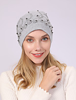Недорогие -Жен. Классический Широкополая шляпа Акрил,Однотонный Зима Все сезоны Черный Светло-серый Розовый