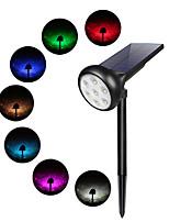 Недорогие -1шт 2 Вт газонные светильники / уличные настенные светильники / светодиодный уличный свет водонепроницаемый / солнечный / новый дизайн 7 преобразование цветов / теплый белый 3,2 В наружное освещение /