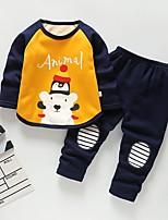 Недорогие -Дети (1-4 лет) Мальчики Классический Мультипликация Длинный рукав Набор одежды Розовый