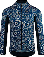 Недорогие -21Grams Муж. Длинный рукав Велокофты Черный / синий Велоспорт Джерси Верхняя часть Сохраняет тепло Устойчивость к УФ Дышащий Виды спорта Зима 100% полиэстер Горные велосипеды Шоссейные велосипеды