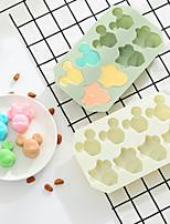 Недорогие -Силиконовая мышь мультфильм форма DIY шоколад мыло формы торт 3D формы выпечки холодильник кухонный инструмент