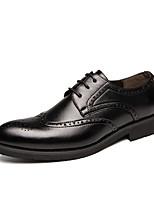 Недорогие -Муж. Официальная обувь Полиуретан Осень Туфли на шнуровке Черный / Коричневый / Для вечеринки / ужина