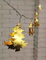 Недорогие -1.5м золотые кованые ёлочные гирлянды 10 светодиодов теплый белый / rgb / белый креатив / вечеринка / светодиодный рождественский фонарь / декоративные батарейки 1 комплект