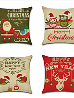 Недорогие -1 штук Лён Наволочка, Рождество Современный стиль Классика Рождество Бросить подушку
