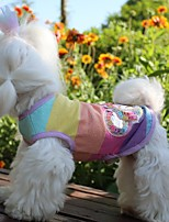 Недорогие -Собаки Инвентарь Одежда для собак Полоски Радужный Полиэстер Костюм Назначение Лето Свадьба