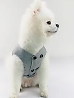 Недорогие -Собаки Жилет Одежда для собак Однотонный Серый Полиэстер Костюм Назначение Лето Свадьба