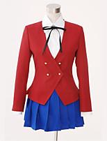 Недорогие -Вдохновлен Косплей Школьницы Аниме Косплэй костюмы Японский Школьная форма Кофты / Юбки Назначение Жен.