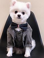 Недорогие -Собаки Коты Плащи смокинг Одежда для собак Однотонный Черный Хаки Полиэстер Костюм Назначение Лето Свадьба