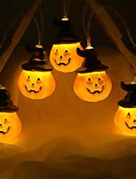 Недорогие -2 м тыква строка огни 10 из светодиодов тыква шляпа хэллоуин декоративные милые украшения 1 шт.
