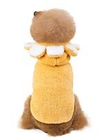 Недорогие -Собаки Плащи Одежда для собак Мультипликация Цветы Желтый Синий Розовый Флис Костюм Назначение далматина Шиба-Ину Мопс Осень Зима Мужской Наколенники Симпатичные Стиль
