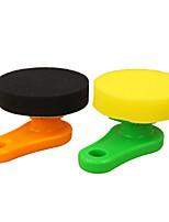 Недорогие -автомобильная чистящая губка деликатная мягкая пластиковая ручка круглый инструмент для ухода за автомобилем