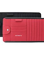 Недорогие -Авто автомобильные аксессуары многофункциональный солнцезащитный козырек солнцезащитные очки клип автомобиль сумка для хранения счета законопроект визитница ящик для хранения