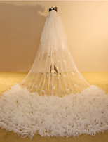 Недорогие -Два слоя Симпатичные Стиль Свадебные вуали Фата для венчания с Отделка 118,11 в (300см) Полиэфир / Тюль