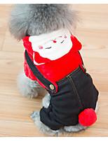 Недорогие -Собаки Инвентарь Одежда для собак Животное Желтый Красный Синий Полиэстер Костюм Назначение Зима Праздник Хэллоуин
