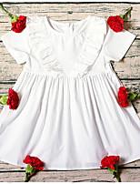 Недорогие -Дети (1-4 лет) Девочки Однотонный Платье Белый