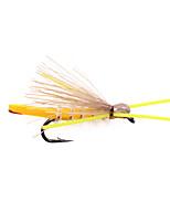 Недорогие -4 pcs Мухи Мухи Плавающий Bass Форель щука Ловля нахлыстом Металл