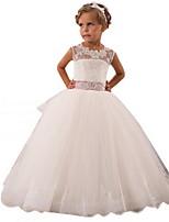 Недорогие -Дети Девочки Симпатичные Стиль Однотонный Платье Белый