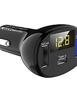Недорогие -автомобильное зарядное устройство с цифровым дисплеем автомобильное зарядное устройство type-c многофункциональное измерение напряжения автомобильного прикуривателя qc3.0 быстрая зарядка