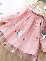 Недорогие -Дети Девочки Симпатичные Стиль Мультипликация Платье Белый