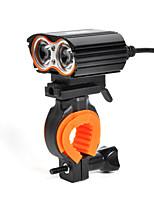 Недорогие -Светодиодная лампа Велосипедные фары Передняя фара для велосипеда LED Велоспорт Анти-скольжение Быстросъемный Перезаряжаемая батарея 1400 lm Перезаряжаемая батарея Белый Велосипедный спорт / IPX 6